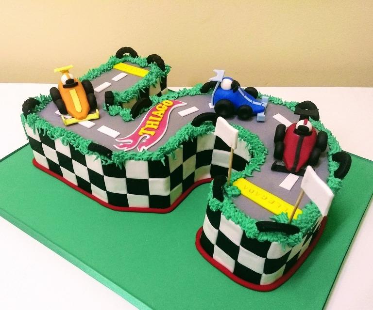 Torta Numero 5 Pista De Autos Hotwels 60000 En Mercado Libre