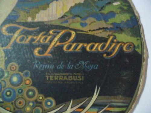 torta paradiso terrabusi reina de la mesa publicidad carton