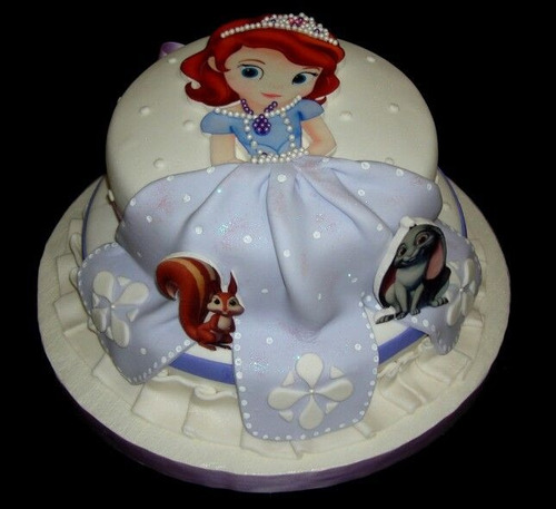 torta princesita sofia para 30 personas