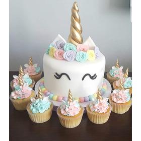 Torta Unicornio 2.5kg+12 Cupcakes+12 Cookies+12 Cakepops