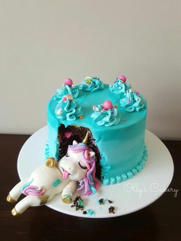 Torta Unicornio Gloton Cakepops Cupcakes Y Mas S 65 00