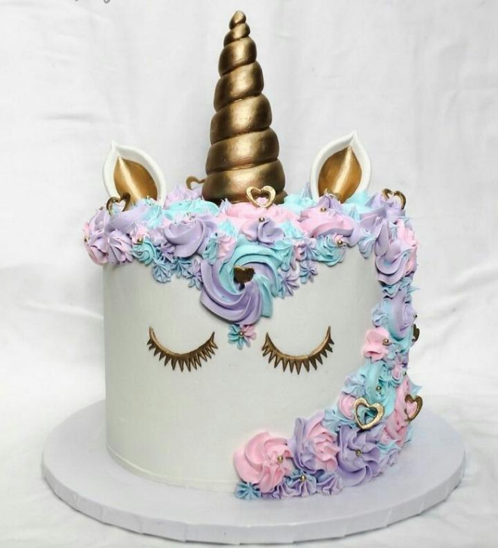 Torta Unicornio Nina Baby Shower Toda Ocasion Cumpleanos A1 S