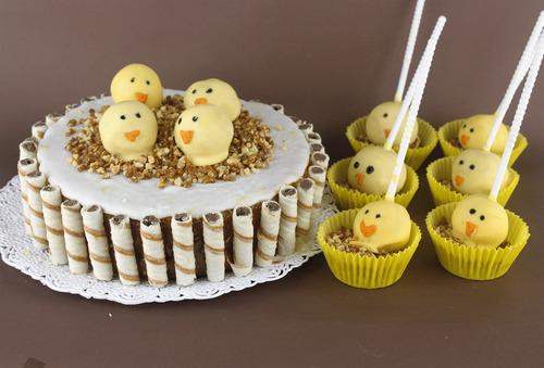 tortas artesanales tematicas con cake pops!!!!