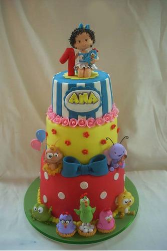 tortas cumpleaños infantiles gallina pintadita