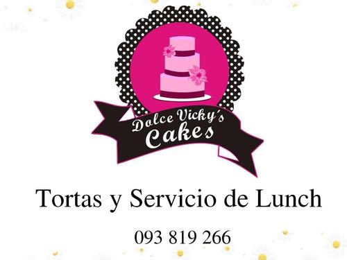 tortas, cupcakes, servicio