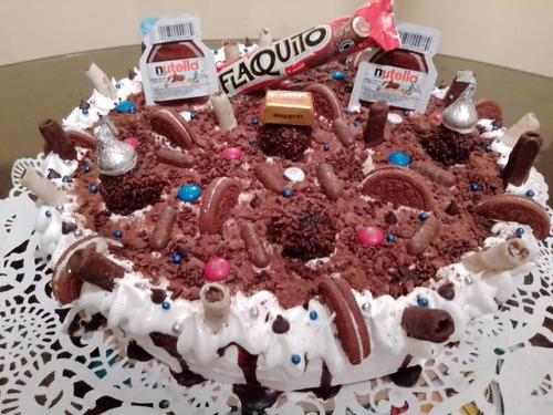 tortas decoradas con chucherias