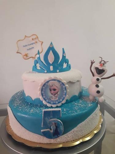 tortas decoradas con merengue para cumpleaños