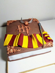 Tortas Decoradas Harry Potter Snitch Dorada Varita Magica
