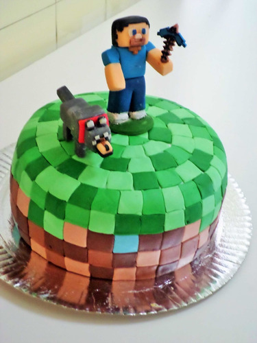 tortas decoradas infantiles ! minecraft , fortnite , sonic