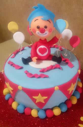 tortas decoradas infantiles payasos circo plim plim 2kg