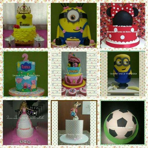 tortas decoradas infantiles y adultos.