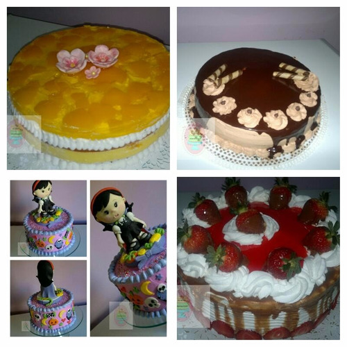 tortas decoradas y figuras de masa flexibles