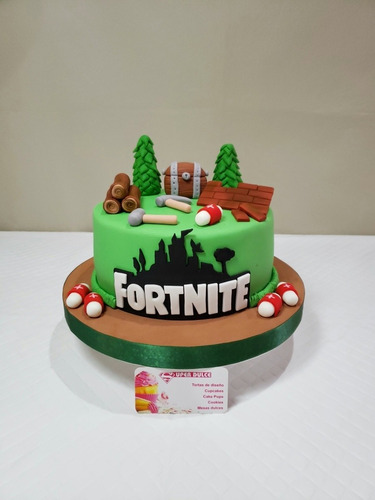 tortas infantiles decoradas (sonic/peppa/fortnite)