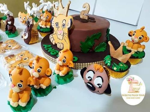 tortas temáticas y dulces tematicos promoción  ..rey león