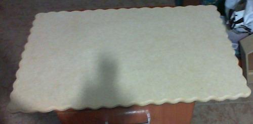 tortera, base lámina rectangular de mdf 9mm.borde biselado