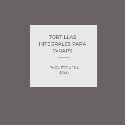 tortillas integrales para wraps