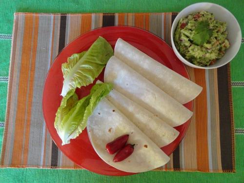 tortillas mexicanas de trigo para tacos. 18cm por 20 docenas