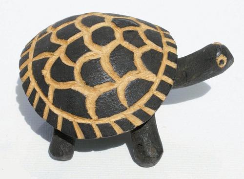 tortuga escultura tallada en madera arte y cultura de africa