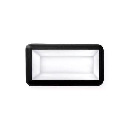 tortuga exterior luces aplique rectangular negro e27