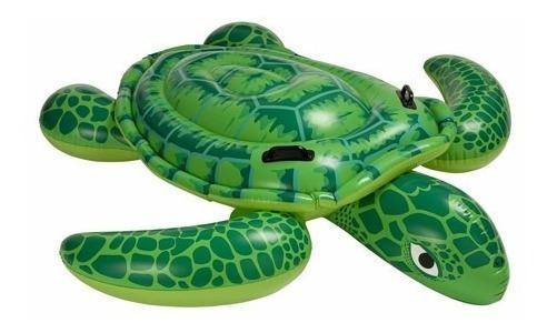 tortuga flotador inflable piscina intex agarraderas 56524