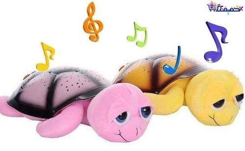 tortuga led juguete luz de noche musica proyector estrellas