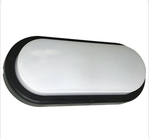 tortuga led ovalada blanco o negro 12w candil tl2019012