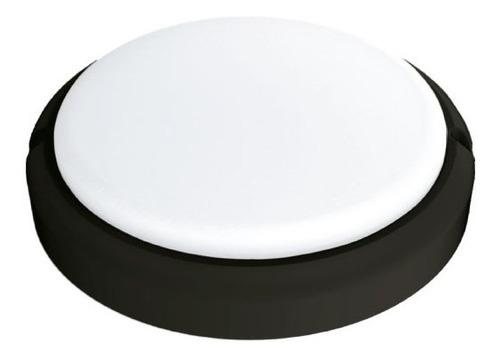 tortuga led redonda 24w 6500k negra interelec