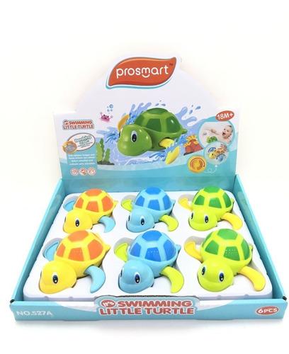 tortuga marina nadadora a cuerda hola 527a juego baño edu