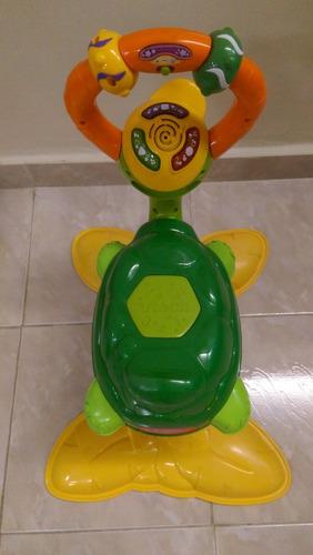 tortuga montable brinca con luces y melodias marca vteach