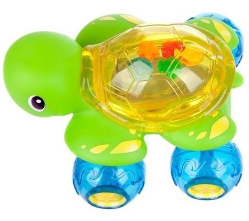 tortuga para estimulacion del bebe en el baño munchkin flota