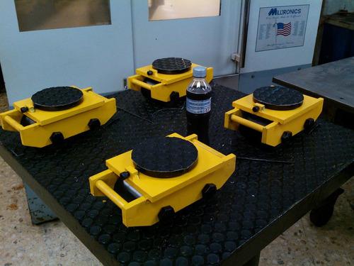 tortugas de carga 12c/u  = 48ton) movimiento de maquinaria
