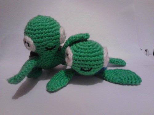 tortugas de estambre, tortuguitas de crochet (op. llavero)
