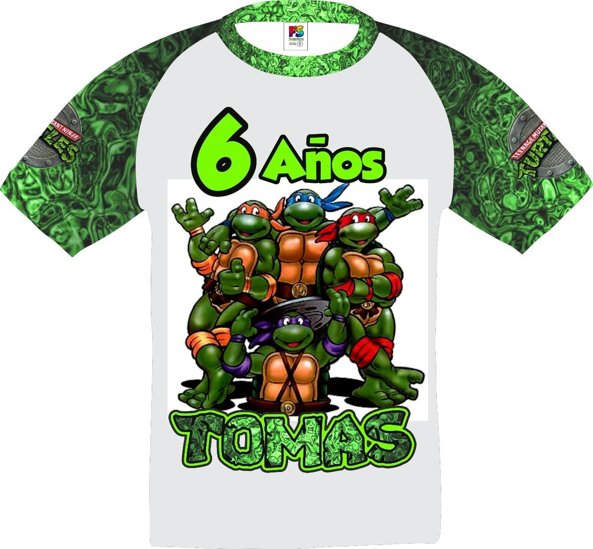 97f42fad5c Tortugas Ninja Franela Personalizadas Cumpleaños Fiestas - Bs. 2.200 ...
