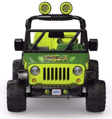 tortugas ninja jeep montable electrico wrangler