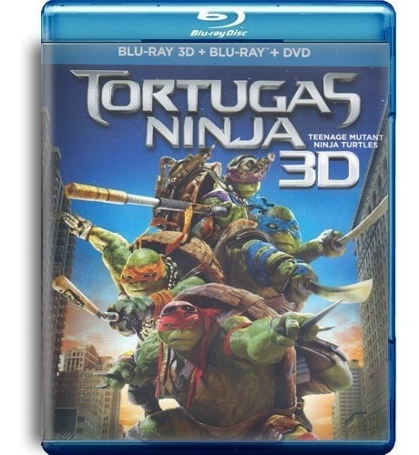 tortugas ninja la pelicula en blu-ray 3d + blu-ray + dvd