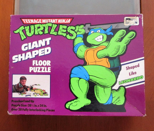 tortugas ninja leonardo rompecabezas gigante de colecci 1990
