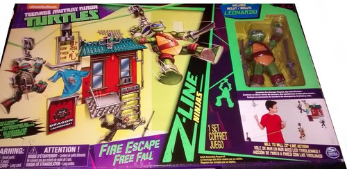 tortugas ninja  nickelodeon  fire escape free fall