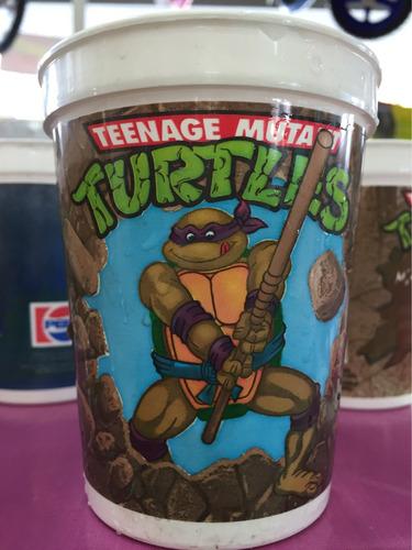 tortugas ninjas turtles mutante vasos coleccionables retro