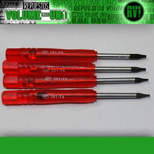torx t3 t4 t5 t6  destornilladores celulares  - 4x1