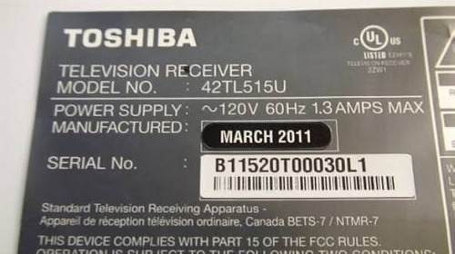 toshiba 42tl515u panel display led