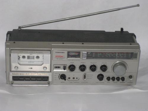 toshiba rt-8740sw radio grabadora am fm sw in-phono vintage