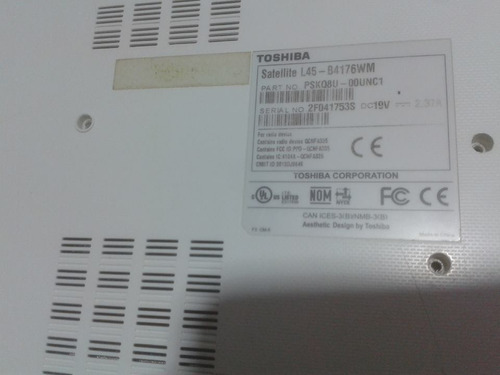 toshiba satellite l45-b4176wm - repuestos