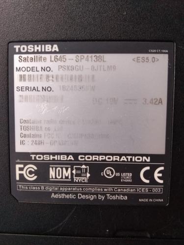 toshiba satellite l645-sp4138l - 14  - pentium p6200 - 3 gb
