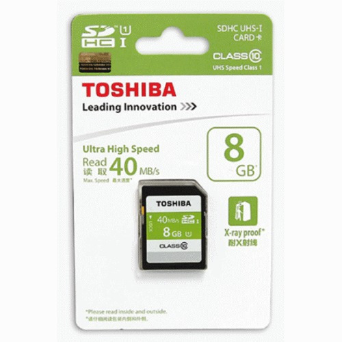 toshiba sdhc  8gb - 40 mb/s - clase 10 - made in japan