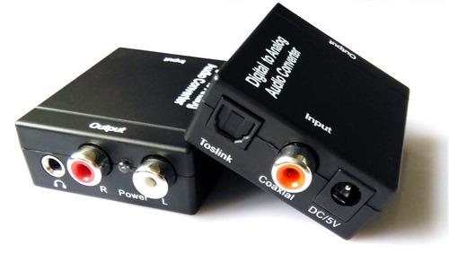 toslink óptico digital coaxial adaptador conversor de audio