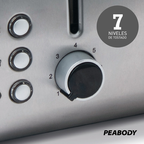 tostadora 4 panes acero inox smartchef peabody t8520 full