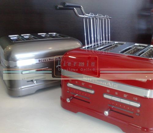 tostadora 4 rebanadas automática metalíco con sensor buffets