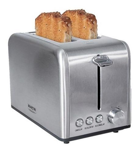 tostadora acero inoxidable 2 panes boca ancha oferta