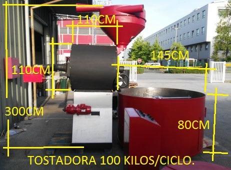tostadora de cafe 100 kilos.