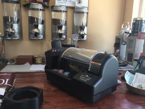 tostadora de granos de café con control electrónico